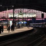 Atardecer estación de trenes Hauptbahnhof
