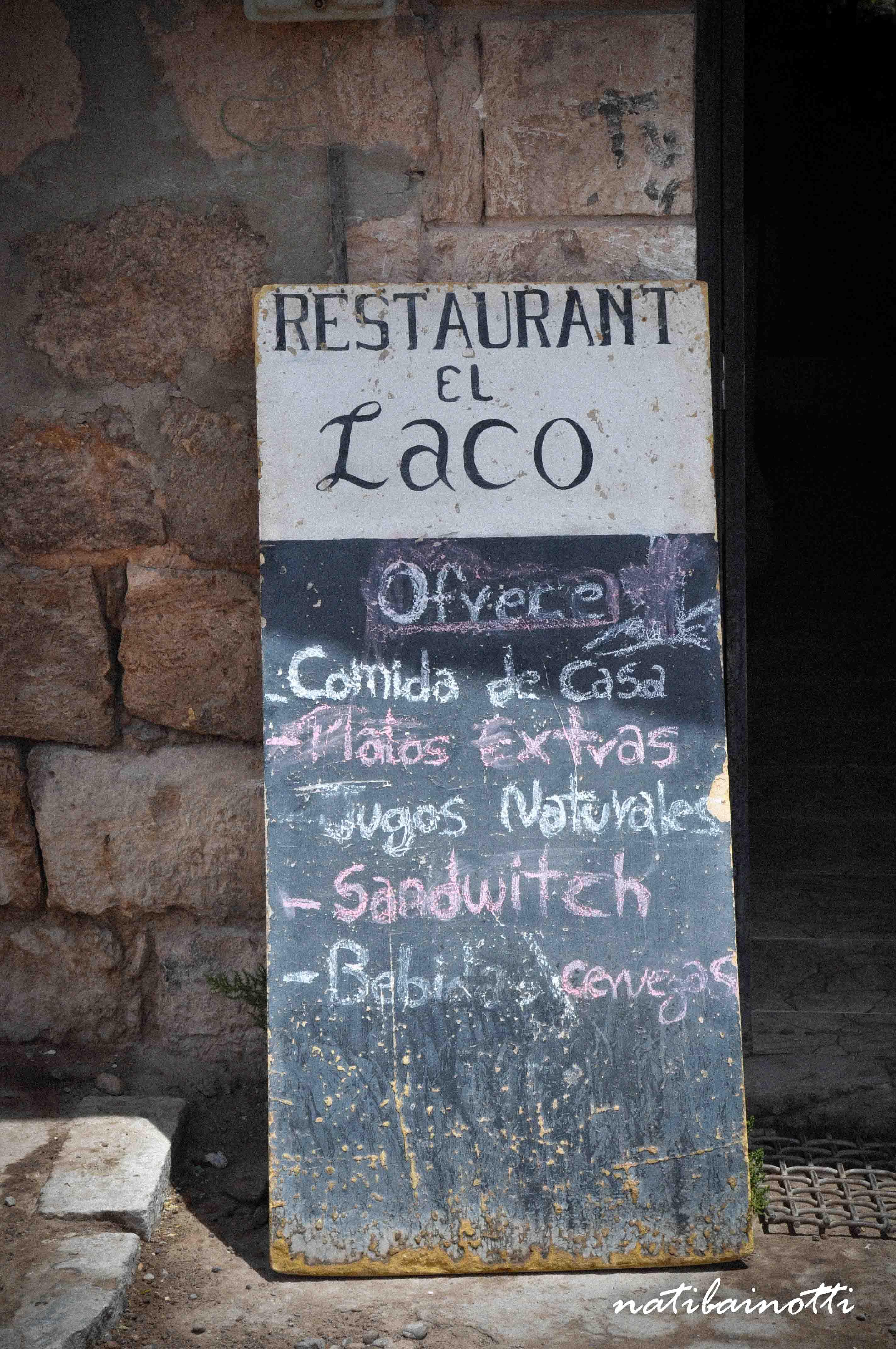 """Restaurante El Laco, donde vendían """"sandwitch"""""""