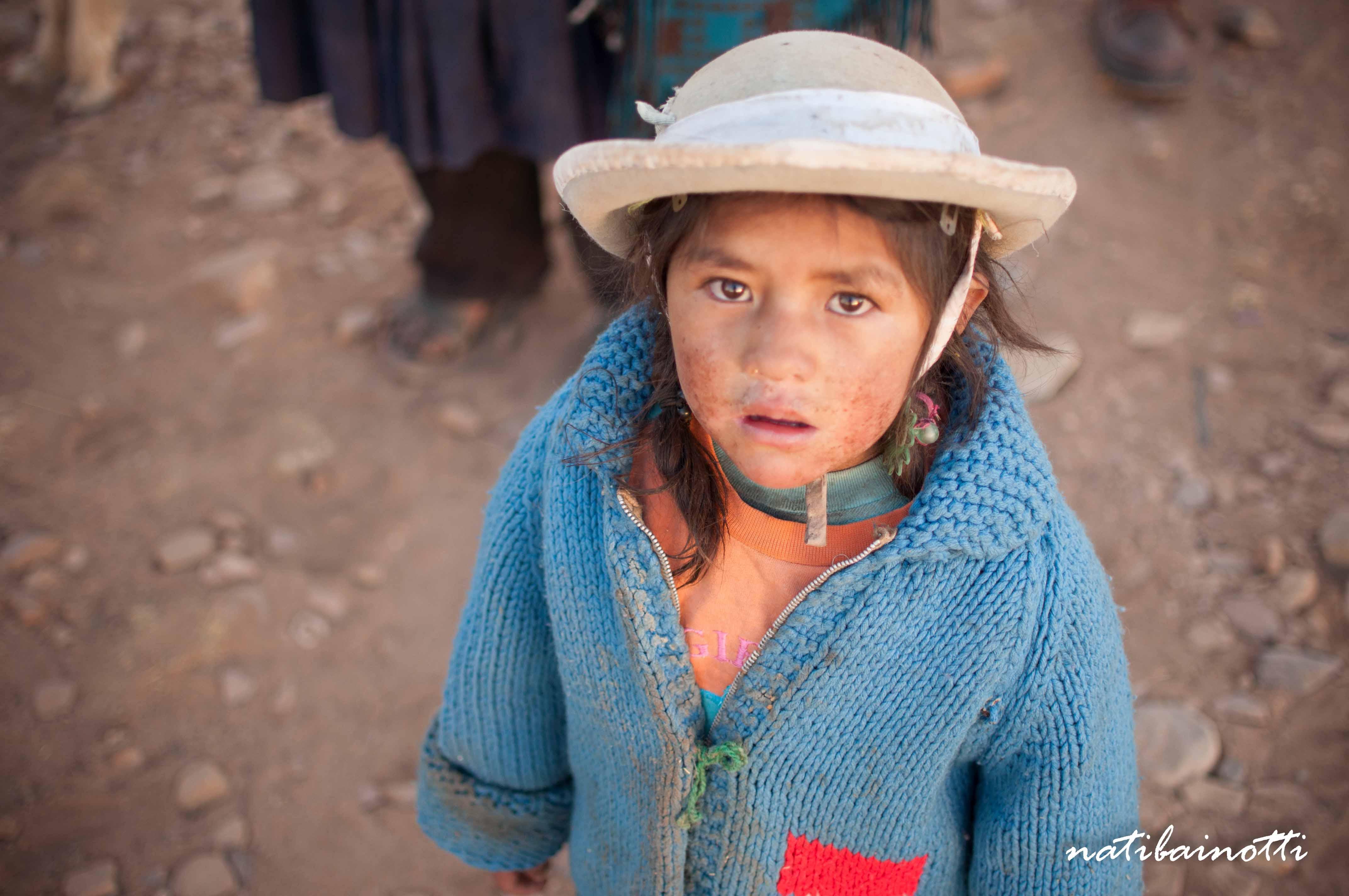 Daisy, una de las nenas que conocimos en Yuticancha.