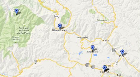 mapa cusco valle sagrado