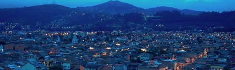 cuenca al amanecer hora azul