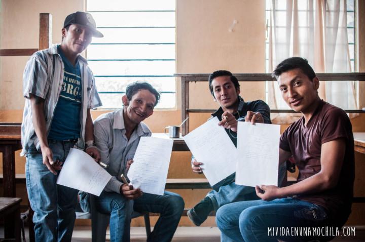 Algunos de los chicos que participaron en el taller.