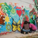 Todas las fotos son de los dos días de la pintada del mural