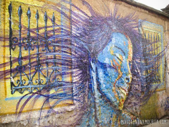 pared grafitti valparaiso chile