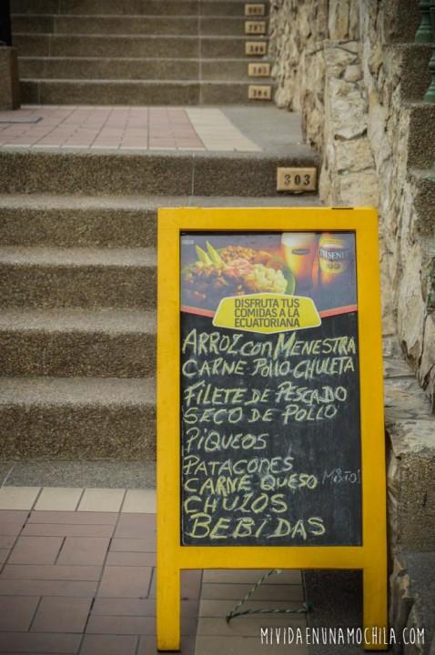menu guayaquil