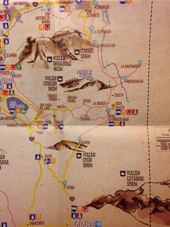 mapa a ibarra ruta ñan