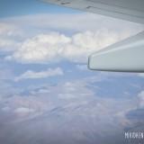 vuelo sobre cordillera de los andes