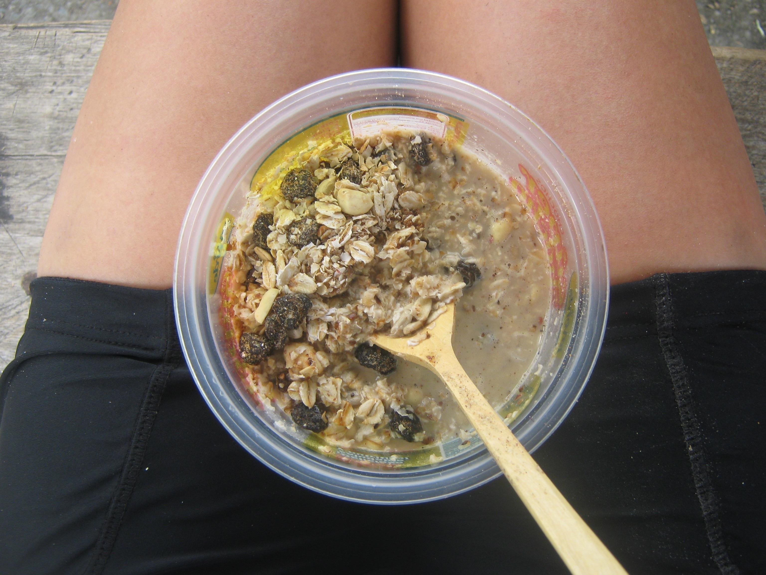granola comida en ruta